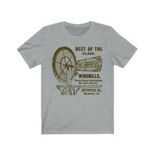 Sandwich Illinois 1880's Enterprise Windmill Unisex Jersey Short Sleeve Tee