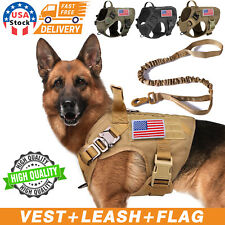 Tactical K9 Dog Harness with Handle No-pull Large Dog Vest+Leash Us Working Dog