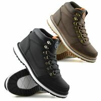 Mens Walking Hiking Casual Lace Up Memory Foam Ankle Boots Trainers Shoes Size
