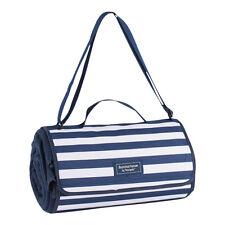 Coast Extra Large Navy Picnic Blanket – Stripe – Roll Away – Waterproof – Naviga