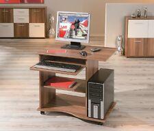 *Adda / Schreibtisch PC-Tisch Bürotisch Nussbaum Dekor, auf Rollen