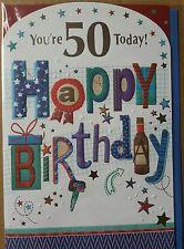 YOU'RE 50 TODAY HAPPY BIRTHDAY - 50th BIRTHDAY CARD