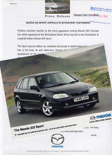Mazda 323 Sport Special Edition Press Release/Photograph - 1999