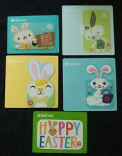 Target Gift Card Lot of 5 Easter Bunny Basket Egg Die-Cut No Value