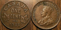 1935 CANADA SMALL 1 CENT COIN PENNY VG-F BUY 1 OR MORE ITS FREE SHIPPING!