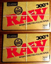 2 x RAW 300 Classic ( Total 600 papeles ) Papel de fumar - cigarette paper