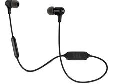Auriculares inalámbricos JBL E25BT, Bluetooth, Control remoto, Micrófono, Negro