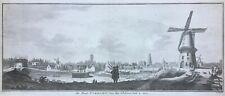 Netherlands Utrecht 1749 Paardenveld windmills by Tirion & Philips, antique view