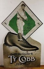 Ty Cobb Shoes Golden Sporting Shoe Co Heavy Duty Metal Store Advertising Sign