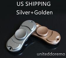 USA Silver+Golden Figit Fidget Hand Spinner EDC Desk Focus Alloy Toy Gift 3-6min