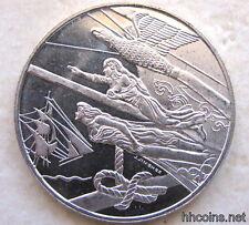 HOLLAND NETHERLANDS 2000 AMSTERDAM SAIL 5 FLORIN COIN, FLYING DUTCHMAN, UNC