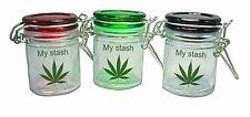 MY STASH MINI MASON JARS 2.5 OZ WITH AIR TIGHT LATCHING LID 3 PACK