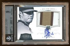 2012 NATIONAL TREASURES WEI-YIN CHEN RC AUTO /99 PATCH LOGO MINT BGS 9 10 AUTO