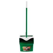 Broom Dustpan Combo Cleaning Set Commercial 1 Sweep Cleanups Steel Handle Green