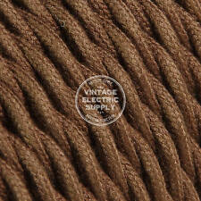 Brown Cotton Twisted Cloth Covered Electrical Wire - Braided Fabric Wire