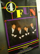 4 FUN Vintage Large BOY BAND from Boston, MA Promo Poster super mint condition