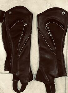 AK Riding Leather and Patent half Chaps
