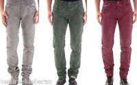 Jeans Uomo Pantaloni ABSOLUT JOY C250 Viola Verde Grigio Tg 29 30 31 32 34 36