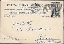 AA4305 Ditta Chiari & Bencini - Firenze - Cartolina pubblicitaria - Postcard