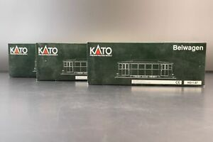 Kato HO K30913 Tram Munchen 3-tlg Motorwagen & Beiwagen 1 & 2