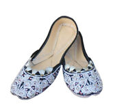 Women Shoes Indian Traditional Mojari Leather Ballet Flat Jutties UK 3.5 EU 36