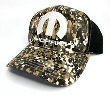 "Black Digital Camo Hat / Cap w/ White Mopar ""M"" Logo / Emblem (Licensed)"
