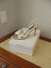 new in box Caparros Ivory silk Wedding Evening Dressy High Heels sz 9.5 m(9 1/2)
