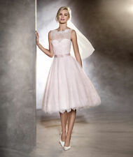 Blush Pink Wedding Dresses Sleeveless Plus Size 0 2 4 6 8 10 12 14 16 18 20 22