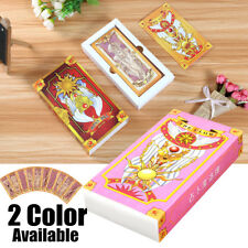56Pcs Pink/Yellow Card Captor Clow Magic Book Box Set Cosplay Party Supplies