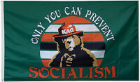 Trump flag only you can prevent Socialism Keep America Great flag 3X5 FT