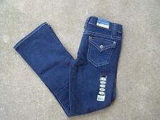 NWT Falls Creek Denim jeans girl's 10R 10 regular Stretch Flare Adjustable Waist