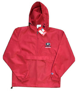 Red Georgia Bulldogs UGA Champion Packable Jacket NWT, Size Small