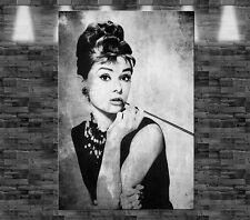 XL Audrey Hepburn auf Leinwand 90x60cm Loft Design Star Person