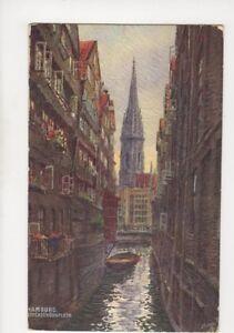 Hamburg Steckelhoernfleth 1922 Embossed Art Postcard Germany 076b