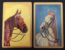 Pair of Vintage Swap/Playing Cards - LOVELY HORSES - Mint Cond