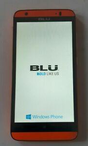 Blu X150E Windows HD LTE Orange mobile phone 4G Dual Sim