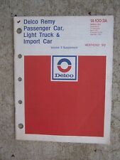 1973 Delco Remy Parts Manual Domesitc Import Car Light Truck Vol 3 Supplement  T