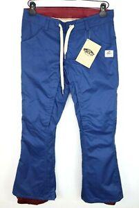 VANS Tangle Pants Womens Snowboard Pants True Navy Blue Size Medium Snow Pants