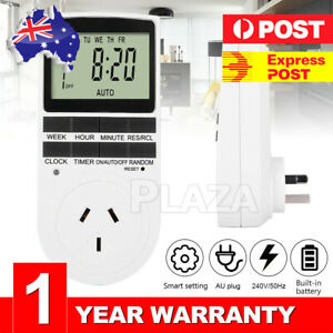 240V Digital Timer Switch Automation Socket Electric Programmable Power AU Plug