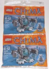 2 TWO LEGO Iceklaw ICE BEAR MECH 30256 the Legends of Chima polar bear 4218750