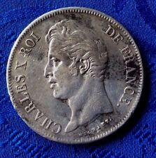 MONNAIE CHARLES X ECU DE 5 FR EN ARGENT 1828 MA  MARSEILLE