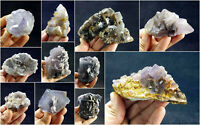 Fluorite Specimens Lot Natural Purple Blue Cubic Formation Crystals 4.6kg 11Pcs