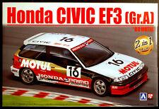 1988 und 89 Honda Civic EF 3 Nr. 15 Gr. A Motul 1:24 Aoshima Beemax # 10 098301