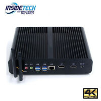 Intel 7th Gen i7 i5 i3 Fanless Desktop PC Windows 10 NUC WiFi Mini PC Kaby Lake