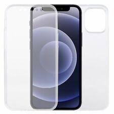 Apple iPhone 12 mini Hülle Case 360 Handy Schutz Tasche Cover Full Transparent