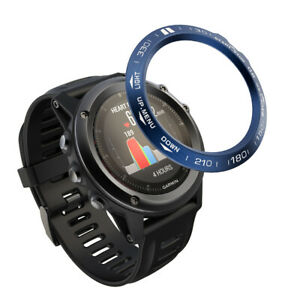 For Garmin Fenix 5X Stainless Steel Watch Bezel Ring Adhesive Cover Retainer