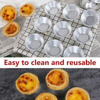 10Pcs Egg Tart Mini Aluminum Cupcake Cake Cookie Mold Tin Baking Tool Baking Cup