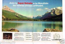 Publicité advertising 1986 (2 pages) Assurance Mutuelle La Mondiale