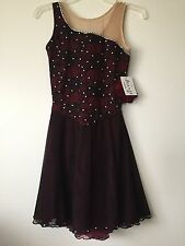 Icings NWT BURGUNDY/BLACK ICE ROLLER DANCE SKATING  DRESS