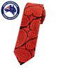 Men's Skinny Tie Red Black Paisley 6CM Slim Tie Thin Wedding Tie Formal Necktie